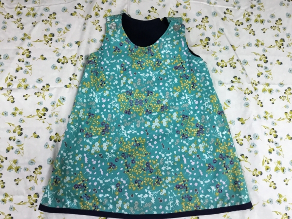 Little Girl's Reversible Pinafore Dress